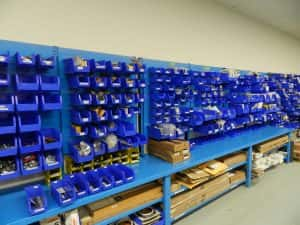 Warehouse storage equipment for the automotive industry