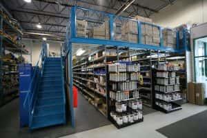 Warehouse equipment: mezzanine accessories