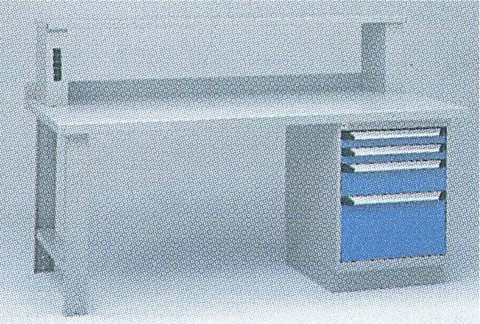 Workbench with Cabinet, Upper Shelf and Elec. Panel