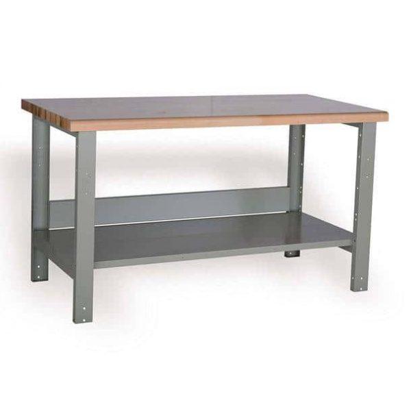 Workbench with Lower Shelf
