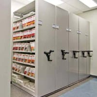 What is high-density mobile shelving?