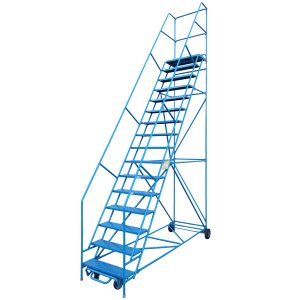 Rolling ladder safety tips