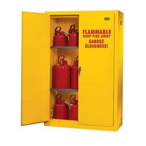 What is the purpose of a flammable storage cabinet?