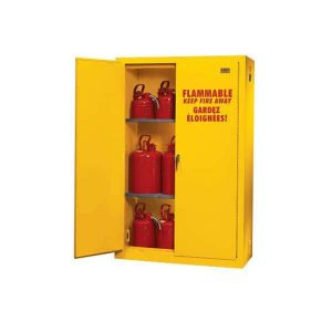 Do flammable storage cabinets need to be grounded?