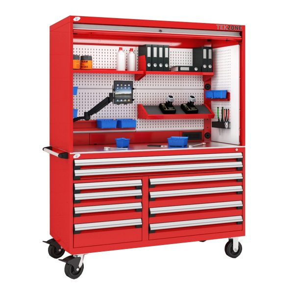 Mobile multi-drawer cabinet