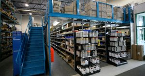 What is a mezzanine floor used for?